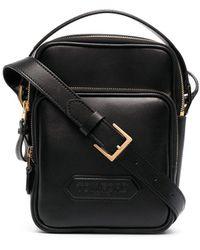 Tom Ford Logo Patch Messenger Bag - Black