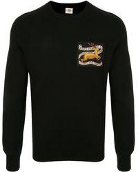 Kent & Curwen Deer Patch Crew Neck Sweater - Black