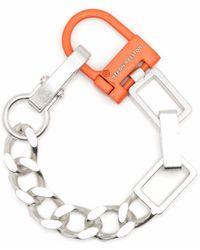 Heron Preston Multi-chain Logo Brcelet - Metallic