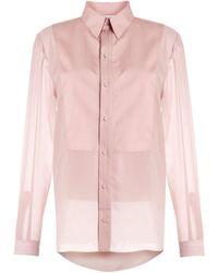 Ports 1961 Long-line Shirt - Pink