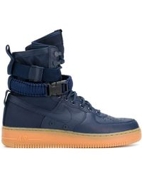 Nike Sf Air Force 1 Trainers - Blue