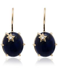 Andrea Fohrman - 18k Yellow Gold Galaxy Star Lapis Earrings - Lyst