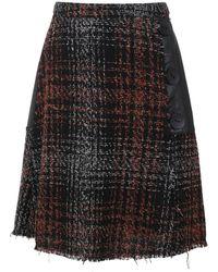 Olympiah Eirene Plaid Skirt - Black