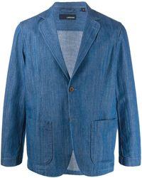 Lardini Klassisches Jeans-Sakko - Blau
