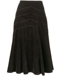 Miu Miu デニムスカート - ブラック