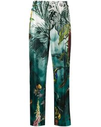 F.R.S For Restless Sleepers Tropical Print Trousers - Blue