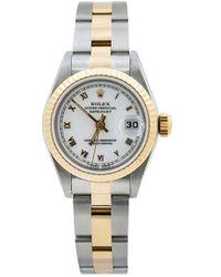 Rolex Наручные Часы Oyster Perpetual Datejust Pre-owned 26 Мм 1990-х Годов - Белый