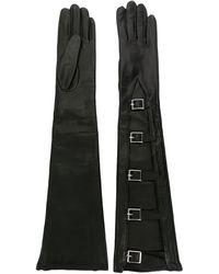 Manokhi Gants longs à boucles - Noir