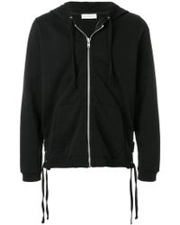 33959c95bec Faith Connexion - Lace-up Side Detail Zipped Front Hoodie - Lyst