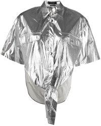 Isabel Marant Рубашка С Эффектом Металлик