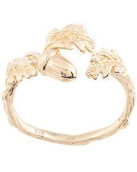 Karen Walker Acorn And Leaf Ring - Metallic
