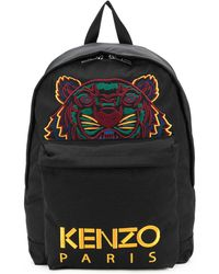 KENZO Tiger Embroidery Backpack - Black