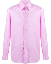 Salvatore Piccolo Slim-fit Shirt - Pink