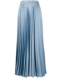 P.A.R.O.S.H. High-waisted Maxi Pleated Skirt - Blue