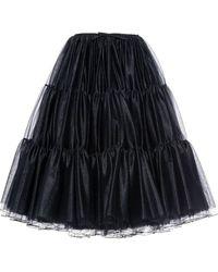 Miu Miu シャーリング フレアスカート - ブラック