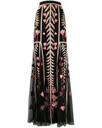 Temperley London Rosy チュールスカート - ブラック