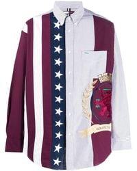 Tommy Hilfiger Hemd mit Wappenstickerei - Weiß