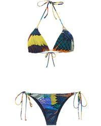 Lygia & Nanny Printed Tulum Bikini - ブルー