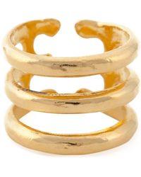 Aurelie Bidermann 'esteban' Ring - Metallic