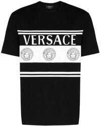 Versace ロゴ Tシャツ - ブラック