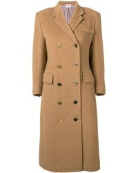 Thom Browne Double-breasted Chesterfield Overcoat - Brown