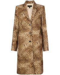 Nili Lotan Rosalin Leopard-print Cotton-twill Coat - Brown