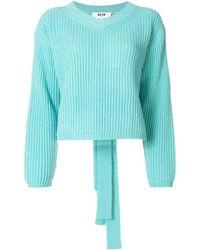 MSGM リブニット セーター - ブルー