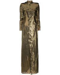 Ralph Lauren Collection Sequin Shirt Dress - Metallic
