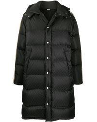 Gucci Monogram Padded Coat - Black
