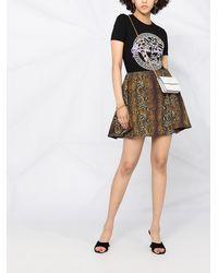 Versace - パイソンプリント フレアミニスカート - Lyst