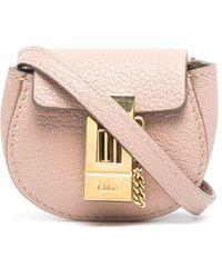 Chloé Поясная Мини-сумка Drew - Розовый