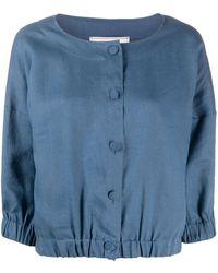 Societe Anonyme Button Front Blouse - Blue