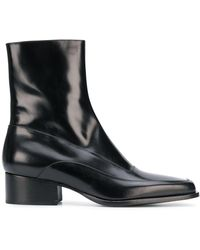 Y. Project Black Fitted Ankle Boots