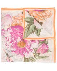 Shanghai Tang Платок С Цветочным Принтом - Розовый
