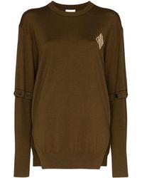 Chloé - Logo-print Fine-knit Wool Jumper - Lyst