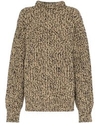 CALVIN KLEIN 205W39NYC オーバーサイズ セーター - ブラウン