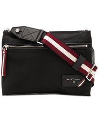 Bally Nylon Double-pouch Shoulder Bag - Black