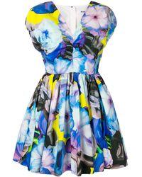 MSGM А-образное Платье С Принтом - Синий
