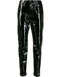 Saint Laurent Patent Leather Pants - Black