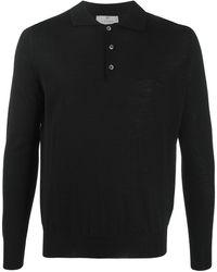 Canali ロングスリーブ ポロシャツ - ブラック