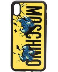 Moschino Iphone Xs Max Hoesje Met Logo - Zwart