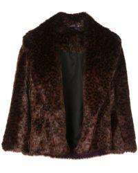 Natori Textured Furry Jacket - Brown