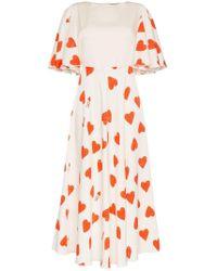 Vika Gazinskaya Eight Of Hearts Silk And Wool Dress - White
