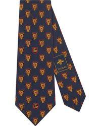 Gucci - Printed Silk Tie - Lyst
