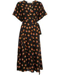 Diane von Furstenberg - Floral Print Wrap Dress - Lyst
