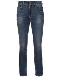 6397 - Skinny Cropped Jeans - Lyst