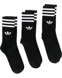 adidas Set di calzini con logo - Nero