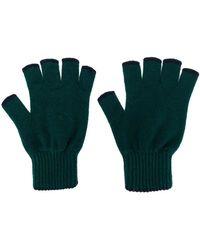Pringle of Scotland Cashmere fingerless gloves - Verde