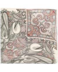 Etro Paisley-print Chiffon Scarf - Multicolour