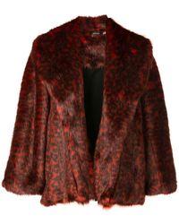 Natori Short Topper Coat - Red